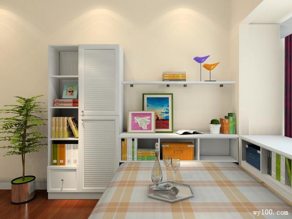 欧式田园书房设计效果图_维意定制家具商城