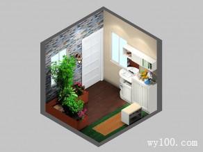 田园风格进门玄关效果图 6�O根据户型设计_维意定制家具商城