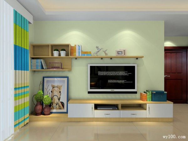 实用型客厅餐厅混合设计效果图_维意定制家具商城