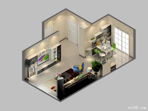 经典黑白时尚电视柜效果图 32�O客厅惊艳一番_维意定制家具商城