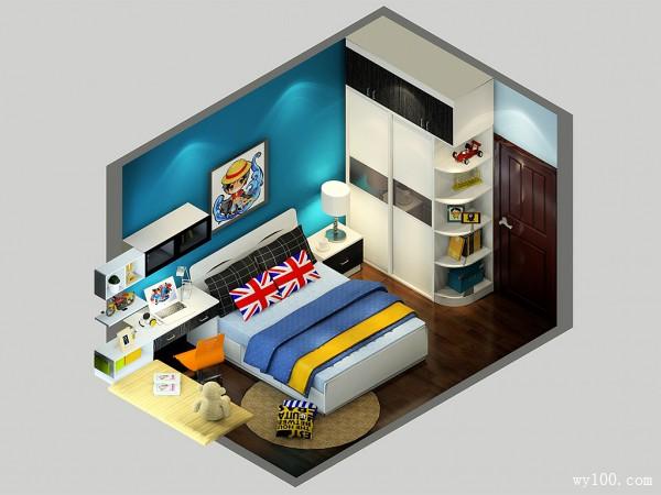 儿童房装修设计 10�O宝宝背景墙的异想空间_维意定制家具商城