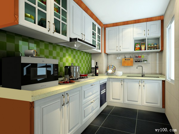 包柱厨房设计效果图 6�O杂物收在哪里很重要_维意定制家具商城