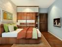 转角飘窗卧室效果图 12�O根据户型设计_维意定制家具商城
