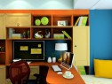 飘窗书房装修效果图 7�O书桌的放置恰到好处_维意定制家具商城