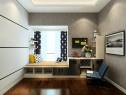 简约时尚卧室效果图 15�O原木纹黑色横竖背景墙_维意定制家具商城