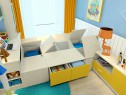 书桌书柜儿童房效果图 7�O满足了日常的需求_维意定制家具商城
