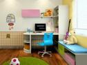 梦幻儿童房效果图 10�O明亮活泼加上粉色搭配_维意定制家具商城