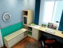 矮柜组合书房效果图 8�O温暖风格来设计_维意定制家具商城
