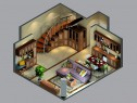 复古客餐厅效果图 63�O抢占楼梯间定制个性收纳柜_维意定制家具商城