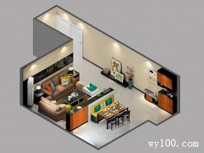 客餐厅隔断效果图 25�O营造出名贵木种的视感_维意定制家具商城