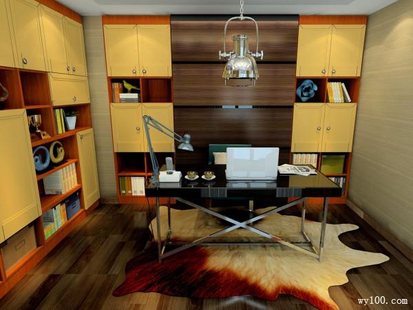 复古书桌书房装修效果图
