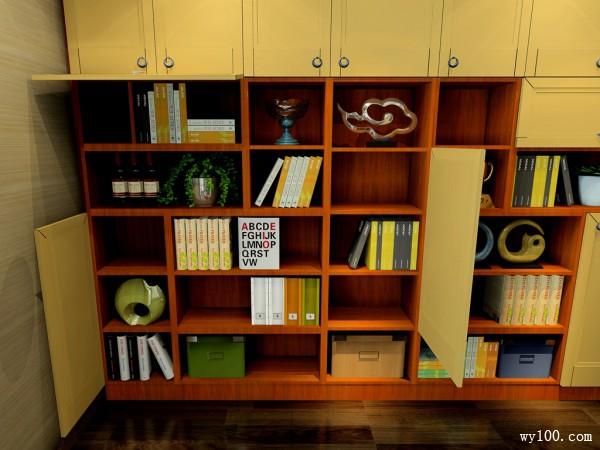 欧式书柜装修效果图