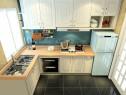 4�O简洁小厨房 定制橱柜提高空间利用_维意定制家具商城