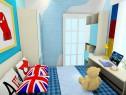 天蓝儿童房设计效果图 5�O榻榻米扩宽空间_维意定制家具商城