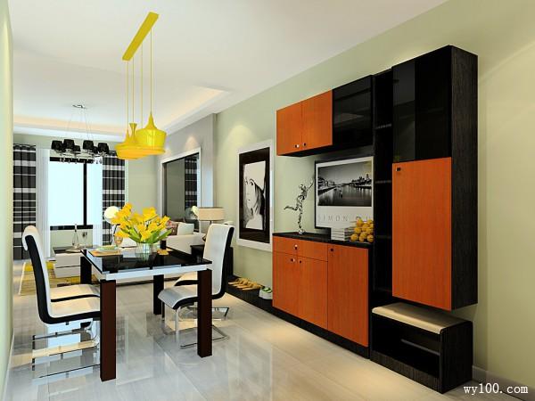 客餐厅装修设计效果图 24�O两厅多用值得你借鉴_维意定制家具商城