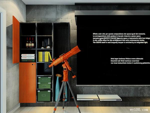 高科技影音客厅设计效果图 25�O老公最喜欢_维意定制家具商城