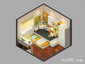 温馨卧室效果图 10�O巧妙设计叫它书房也可以_维意定制家具商城