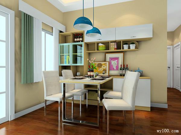 小清新客餐厅 61�O都市白领的理想家_维意定制家具商城