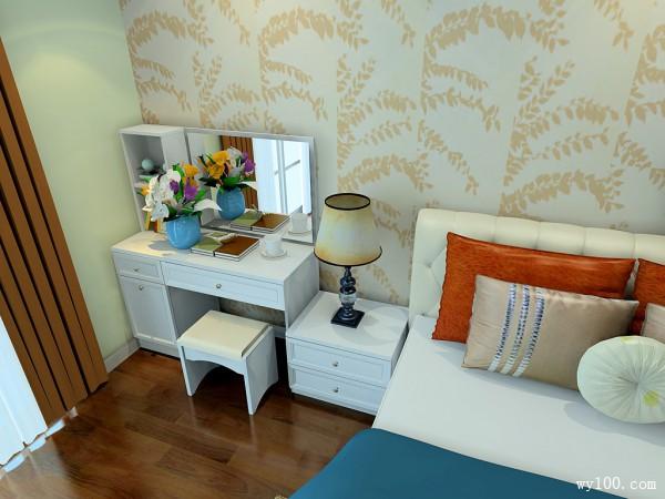 简约卧室效果图 23�O巧用多余墙面做分区_维意定制家具商城