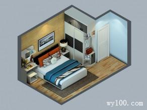 双人卧房效果图 14�O让人怦心动的经典黑白_维意定制家具商城