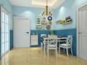 蓝色地中海客餐厅效果图 39�O有效利用客厅_维意定制家具商城