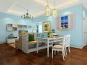沙发一体客餐厅效果图 41�O整体感觉清新_维意定制家具商城