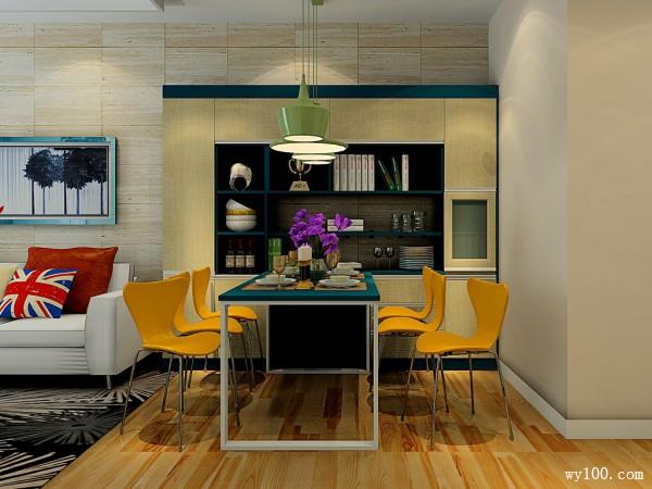 四方柜客餐厅效果图 44�O储物功能很强_维意定制家具商城