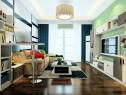 飘窗沙发客餐厅效果图 23�O整体摆放整齐大方_维意定制家具商城