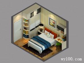 """简约双人房效果图 10�O一个空间""""休息+工作""""_维意定制家具商城"""