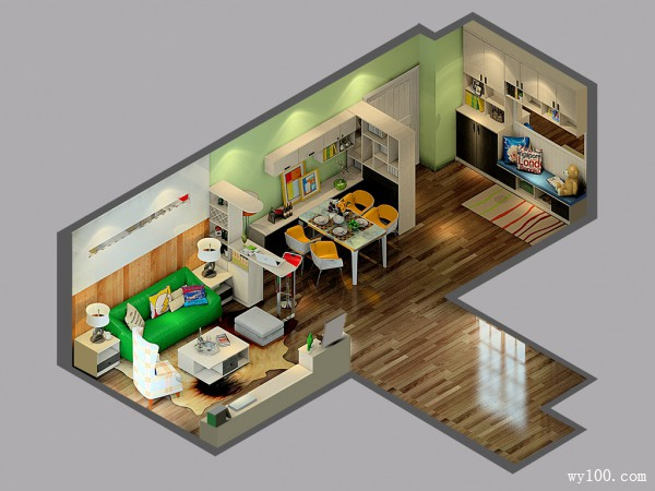 田园风客餐厅效果图 72�O黑白配也可以如此温馨_维意定制家具商城