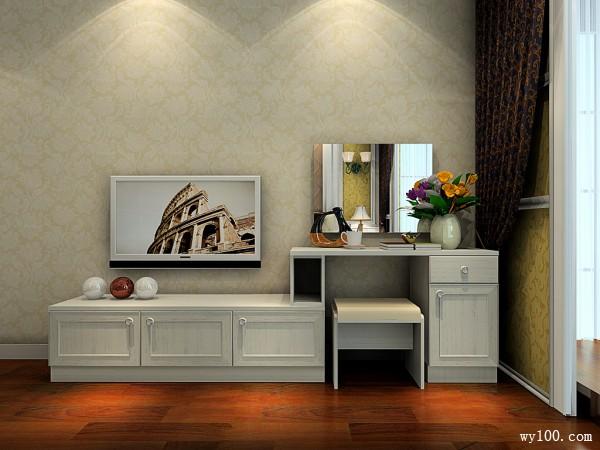欧式卧室效果图 23�O极欧背景墙搭配碎花墙纸_维意定制家具商城