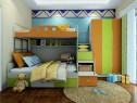 上下床儿童房效果图 10�O活泼青春的绿色_维意定制家具商城