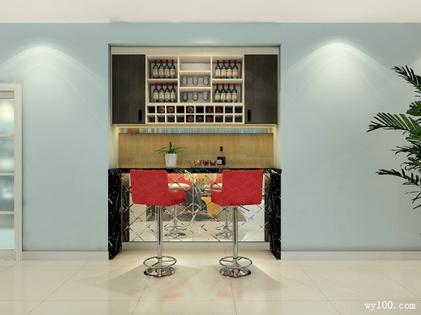 飘海客餐厅效果图 43�O给你一种海洋的气息_维意定制家具商城
