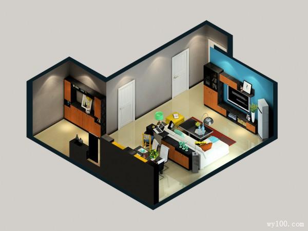 混搭客餐厅效果图 54�O清新而舒适_维意定制家具商城