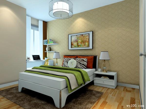 落地窗卧室效果图 12�O清新自然_维意定制家具商城