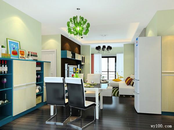 整体电视柜客餐厅效果图 30�O大气奢华_维意定制家具商城