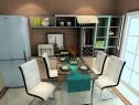 大户型客餐厅效果图 122�O客厅沙发搭配吧台_维意定制家具商城