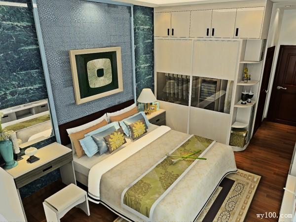 梳妆台卧室效果图 14�O梳妆柜的设计增加了空间_维意定制家具商城