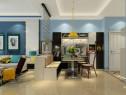 珠帘隔断客餐厅效果图 34�O整体时尚简洁_维意定制家具商城