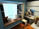 经典卧室效果图 14�O撷取黑与白的经典搭配_维意定制家具商城