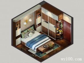 横梁卧室装修效果图 12�O整体给人高贵的感觉_维意定制家具商城