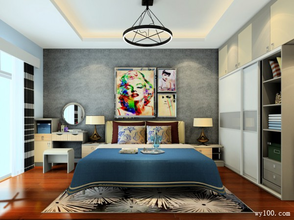 梳妆台卧室效果图 15�O透露出高档、时尚气质_维意定制家具商城