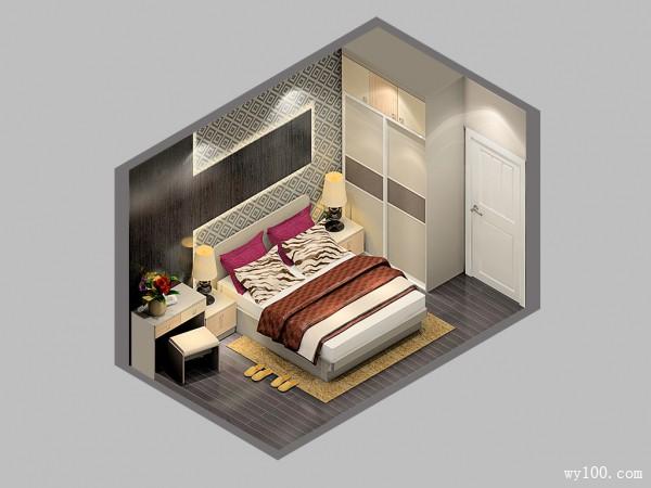 梳妆柜卧室效果图 10�O让主人有自己的打扮时间_维意定制家具商城