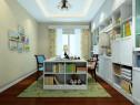 双人书房装修效果图 14�O满足了双人位的工作空间_维意定制家具商城