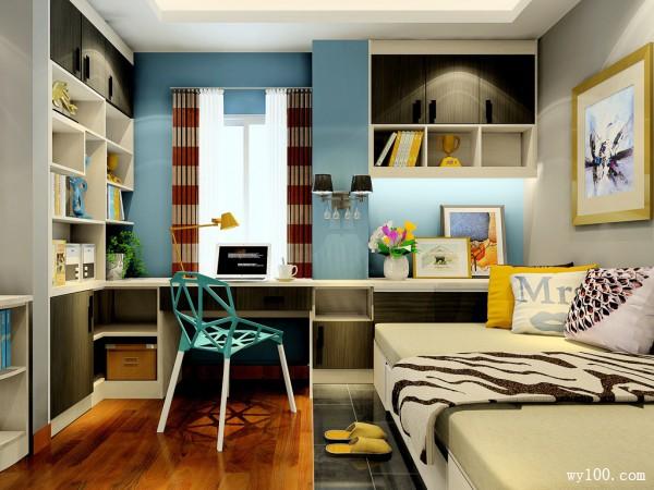 时尚书柜卧室装修效果图
