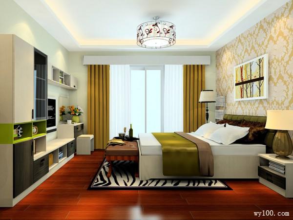 自然风格卧室效果图 16�O美观时尚、经济适用_维意定制家具商城