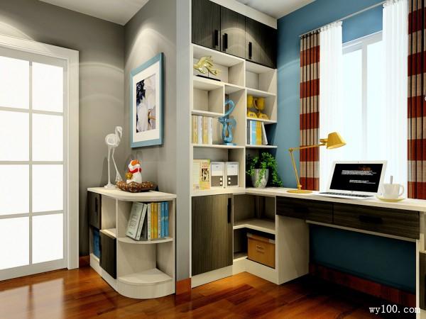 时尚书桌卧室装修效果图