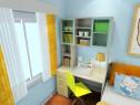 暖色系儿童房效果图 10�O蓝绿色点缀_维意定制家具商城