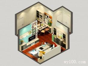简欧式客餐厅效果图 24�O收纳性也很好、简单实用_维意定制家具商城