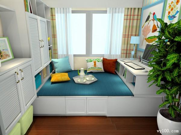 开放柜书房效果图 6�O藏书空间大大增加_维意定制家具商城